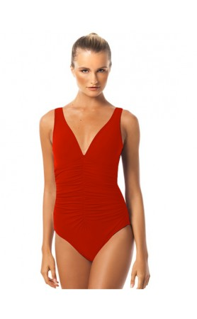 Smart Basic One Piece swimsuit in Red