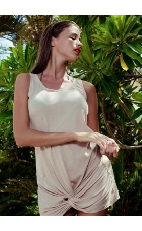 Koral Beach Dress in Nude