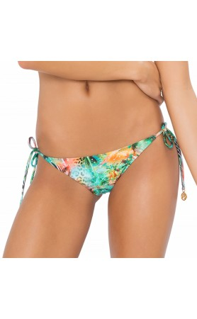 Miami Nice Crystalized Brazilian Tie Side Ruched Back Bottom