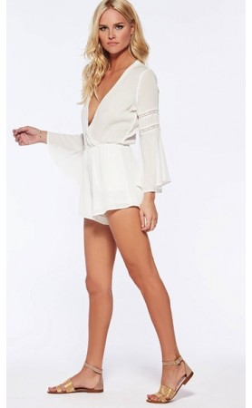 Lovestruck Romper in Ivory