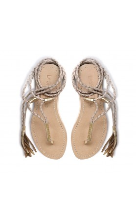 Gili Wrap Sandals in Sand