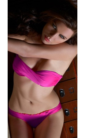 Cosita Buena Twisted Bandeau Top in Too Hot Miami