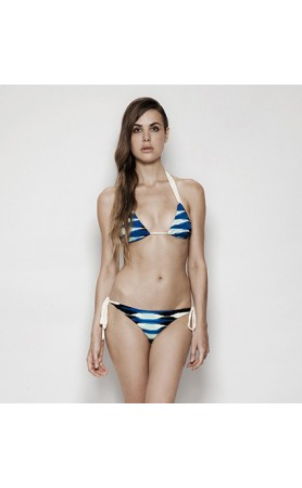 Moore Bikini in Blue Frieze