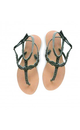 Nevis Sandals in Brushed Silver