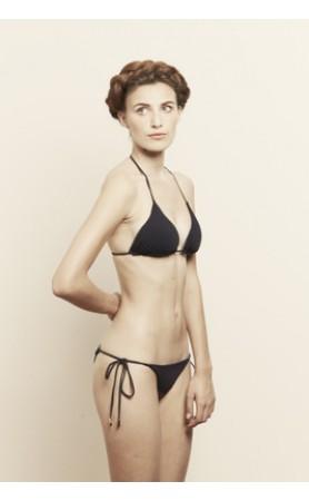 Nov Reversible Triangle Bikini in Navy/ Steel