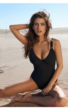 Laora Underwired One-Piece Swimsuit in Black