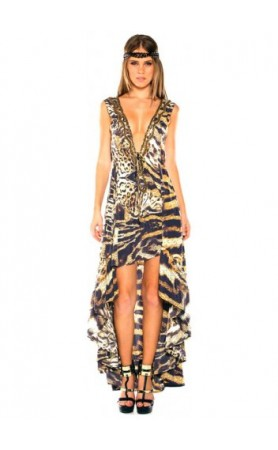 Safari Hi Low Dress in Leopard