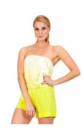 Bessy Romper in Yellow Ombre