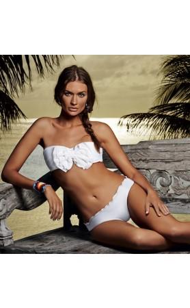 Bahama White Bow Bandeau Bikini