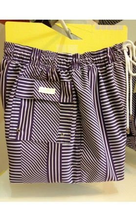 Palmacea Swimwear Purple Stripe Shorts