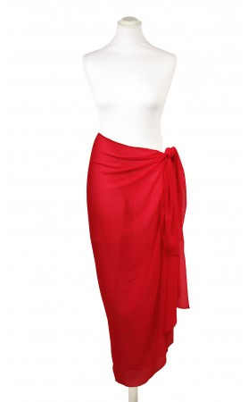Solid Red  Sarong Pia Rossini