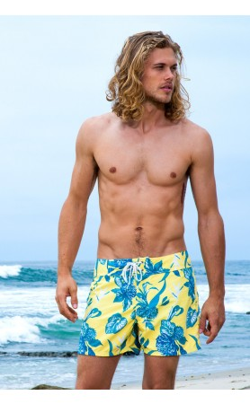 Laguna Surf Short in Yellow Flower