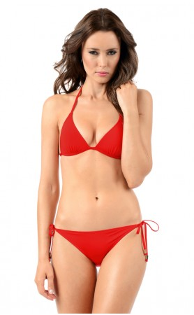 Envy Push Up String Top in Scarlet