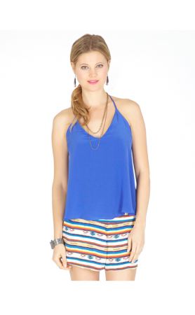 Luna T-Back Cami in Royal Blue