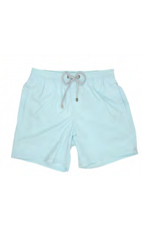 AUB001 Solid Acqua Swim Trunks