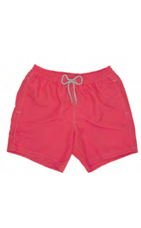 AUB001 Solid Corallo Fluo Swim Trunks