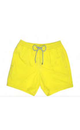 AUB001 Solid Canarino Swim Trunks
