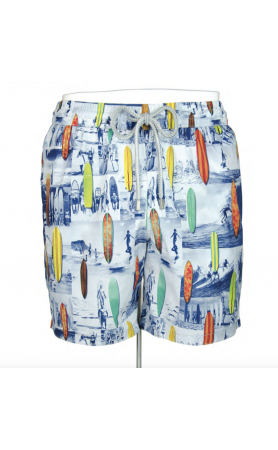 AUB612 Surfboard People Swim Trunks