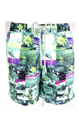 AUB582 Hawaiian Ocean Swim Trunks