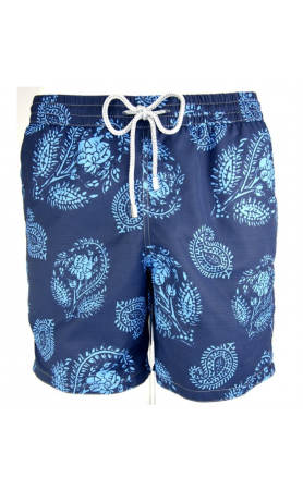 AUB583 Paisley Swim Trunks