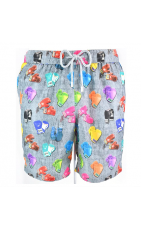 AUB591 Boxing Glove Swim Trunks