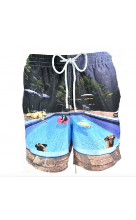 AUB593 Pool Dogs Swim Trunks