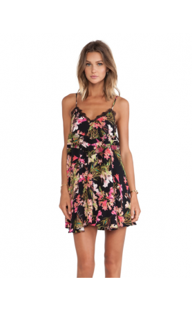 Bahia Babydoll Dress in Tropical Bloom