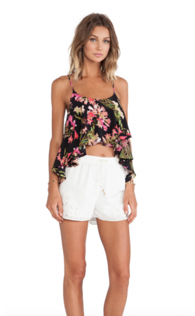 Long Weekend Crop Top In Tropical Bloom