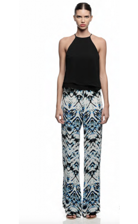 Maui Print Pants in Aquamarine