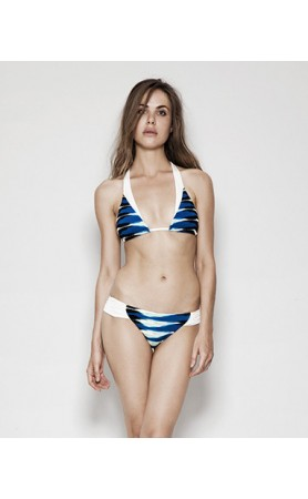 Seine Bikini in Blue Frieze