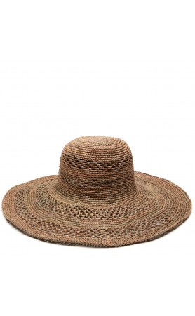 Sienna Open Weave Hat in Dove