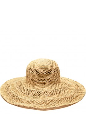 Sienna Open Weave Hat in Natural
