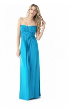 Slaya Maxi Dress in Cyan