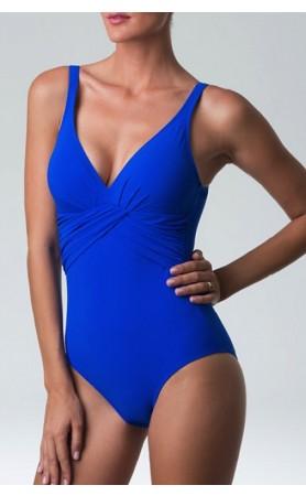 Temper One Piece Swimsuit in Cobalt Blue