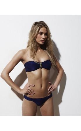 The Harriet Bandeau Bikini in Navy
