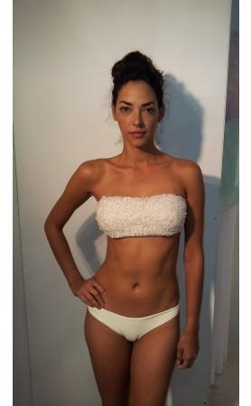 Tatania Imottio Bandeau Bikini in Ivory