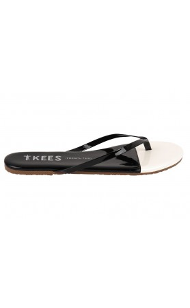 TKEES French Tips in Black Tie Sandals