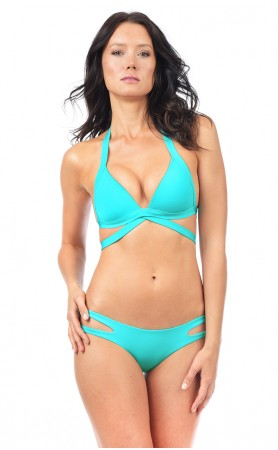 Envy Push Up Wrap Top in Turquoise