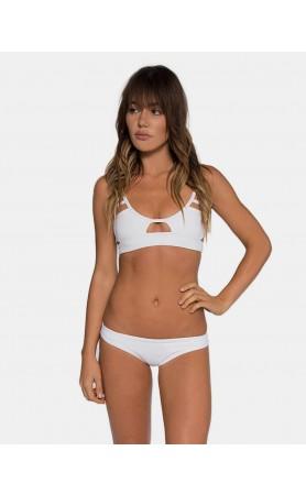 Jessi Cut Out Top in White by Tavik Swimwear