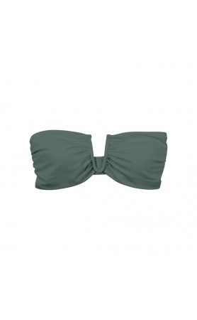 Reunion V-Wire Bandeau Top in Army