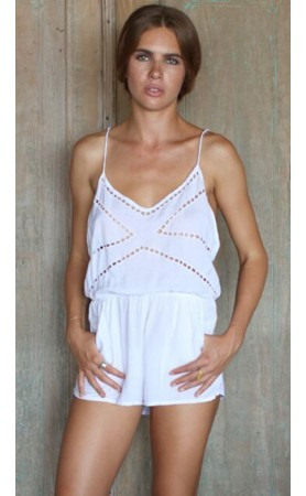 Karina Romper in White