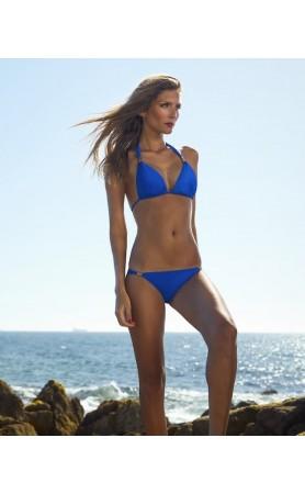 St Tropez Halter Bikini in Cobalt Blue