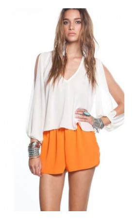 Woodstock Shorts in Neon Orange