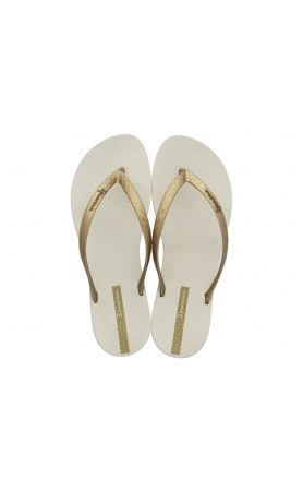 Wave Essence Flip Flop in Beige / Gold