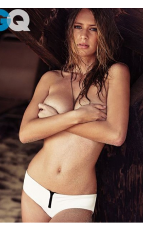 Irene Bottom Bikini in Gardenia as seen in GQ