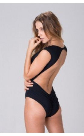 Heather High Neck One Piece in Black