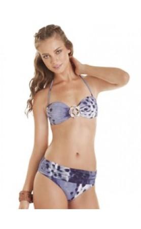 Ankara Bandeau Bikini Top & Fold Over Bottom